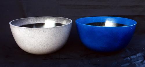 bowl-planter-grey-blue garden