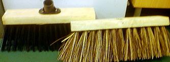 wooden brush for garden