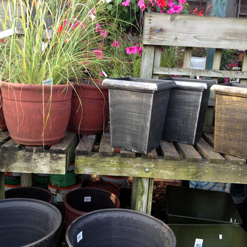 grey garden pots anlex garden centre, all different colors