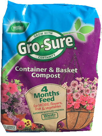 25ltr tub and basket compost