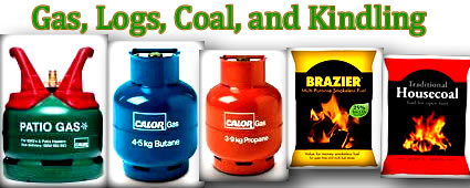 calor gas, logs, winter fuel