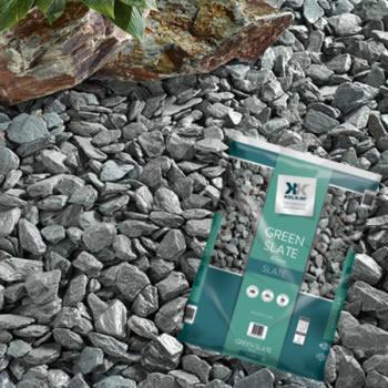 Green slate, garden stones