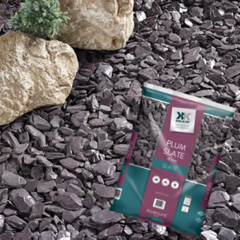 Plum Slate, garden stones