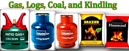 calor gas, logs, winter fuel